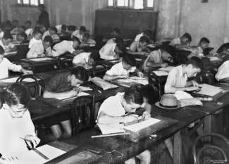 Old school classroom learning