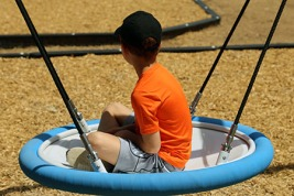 ACH_child on campus playground